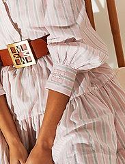 By Malina - Allie shirt dress - sommarklänningar - pale pink stripe - 4