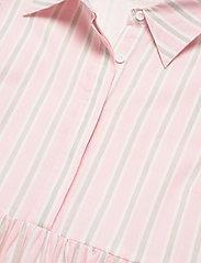 By Malina - Allie shirt dress - sommarklänningar - pale pink stripe - 5