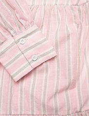 By Malina - Allie shirt dress - sommarklänningar - pale pink stripe - 6