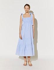 By Malina - Eloise dress - sommarklänningar - blue checker - 0
