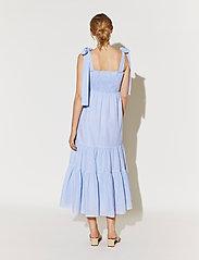 By Malina - Eloise dress - sommarklänningar - blue checker - 3