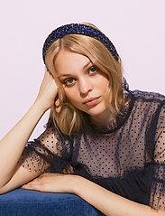 By Malina - Dixie embellished headband - haar accessoires - deep blue - 3