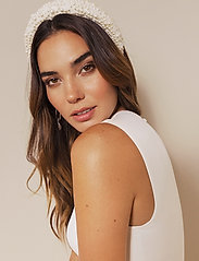 By Malina - Coco pearl headband - haar accessoires - ivory - 0