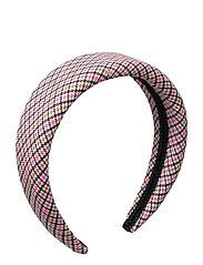 Sally headband - PINK CHECKER