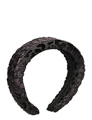 Sally velvet headband - BLACK SPARKLE