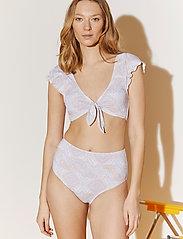 By Malina - Alyssa bikini bottom - bikinitrosor med hög midja - pastel paisley - 0