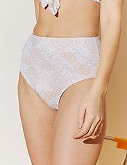By Malina - Alyssa bikini bottom - bikinitrosor med hög midja - pastel paisley - 3