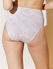 By Malina - Alyssa bikini bottom - bikinitrosor med hög midja - pastel paisley - 4