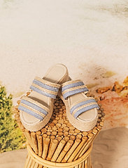 By Malina - Plateau raffia sandals - espadrilles mit absatz - ocean blue - 0