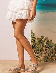 By Malina - Plateau raffia sandals - espadrilles mit absatz - ocean blue - 6