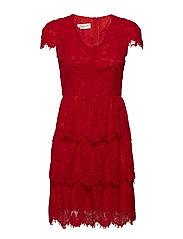 Peg dress - CHERRY RED