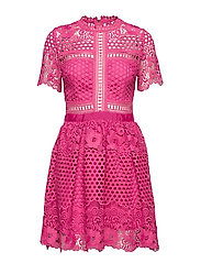 Flower Emily dress - HOT PINK