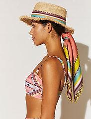 By Malina - Desert straw boater hat - stråhattar - inca coral rose - 0
