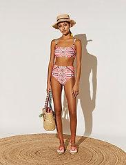 By Malina - Desert straw boater hat - stråhattar - inca coral rose - 4