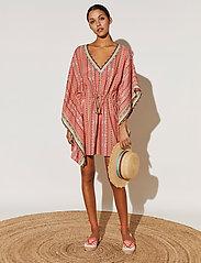 By Malina - Desert straw boater hat - stråhattar - inca coral rose - 5