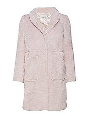 Pam faux fur coat - DUSTY ROSE