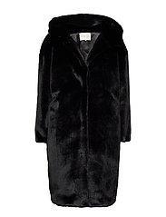 By Malina Carli faux fur coat - BLACK