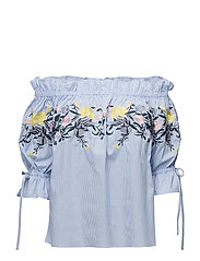 Ebony blouse - BLUE-WHITE STRIPED