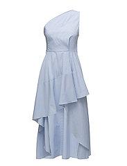 Swan dress - BLUE-WHITE STRIPED