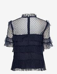 By Malina - Rachel dotted blouse - kortärmade blusar - deep blue - 2