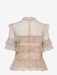 By Malina - Rachel dotted blouse - kortärmade blusar - soft beige - 2