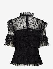 By Malina - Rachel blouse - kortärmade blusar - black - 2
