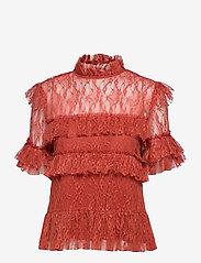 Rachel blouse - BURNT HENNA