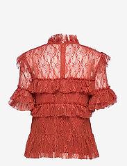 By Malina - Rachel blouse - kortärmade blusar - burnt henna - 2
