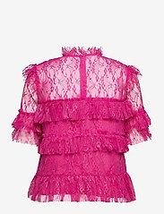 By Malina - Rachel blouse - kortärmade blusar - cerise - 2
