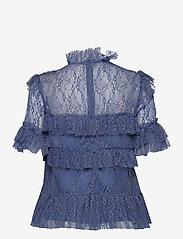 By Malina - Rachel blouse - kortärmade blusar - indigo blue - 2