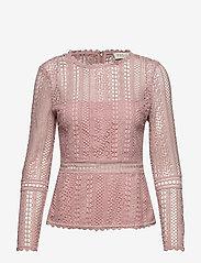 By Malina - Marilene blouse - långärmade blusar - rosé - 1