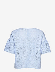 By Malina - Callie blouse - kortärmade blusar - sky blue - 2