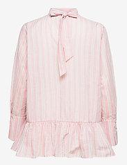 By Malina - Aldina shirt - långärmade blusar - pale pink stripe - 2