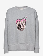 By Malina - Noodle sweatshirt - sweatshirts - grey melange - 1