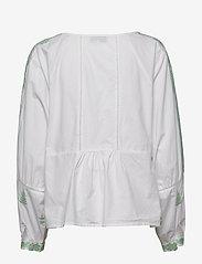By Malina - Rose blouse - långärmade blusar - green mist - 1
