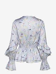 By Malina - Estrid blouse - långärmade blusar - midsummer blue - 1