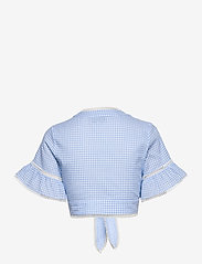 By Malina - Frances top - kortärmade blusar - blue checker - 2