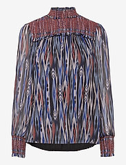 By Malina - Shirley blouse - långärmade blusar - ikat - 1