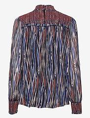 By Malina - Shirley blouse - långärmade blusar - ikat - 2