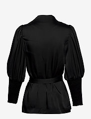 By Malina - Hope blouse - långärmade blusar - black - 2