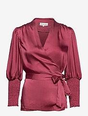 By Malina - Hope blouse - långärmade blusar - dusty raspberry - 1