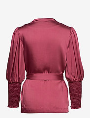 By Malina - Hope blouse - långärmade blusar - dusty raspberry - 2