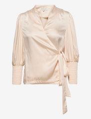 By Malina - Hope blouse - långärmade blusar - soft beige - 0