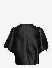 By Malina - Cleo blouse - kortärmade blusar - black - 2