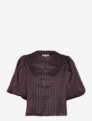 Cleo blouse - METALLIC PINK