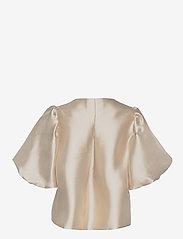 By Malina - Cleo blouse - kortärmade blusar - soft beige - 2