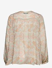 By Malina - Sacha blouse - långärmade blusar - pastel paisley - 2