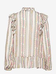 By Malina - Jade blouse - långärmade blusar - inca soft beige - 2