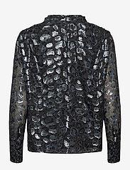By Malina - Zoey blouse - långärmade blusar - black sparkle - 2