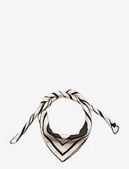 By Malina - Silk scarf - sjalar - iconic print cream - 1